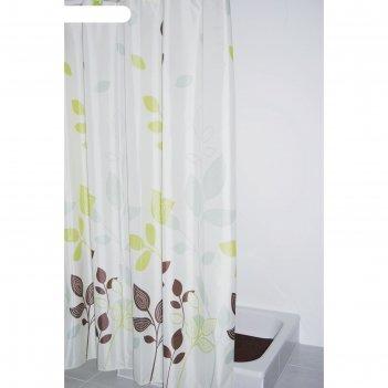 Штора для ванных комнат gerlinde, цвет бежевый/коричневый, 180x200 см