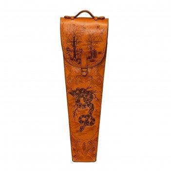 Шампура подарочные (змеи) 6 шт. в колчане из натуральной кожи