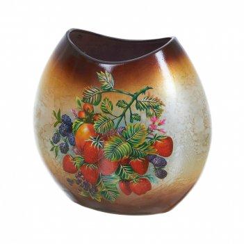 Ваза декоративная ягодная сказка 25*13,5*25см. (керамика) (тра