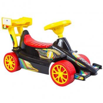 Ор856 каталка с родительской ручкой race mini formula 1 цвет зеленый
