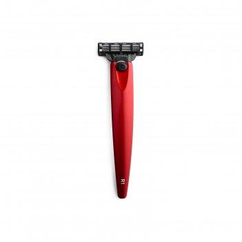 Бритва bolin webb r1, красный металлик, gillette mach3