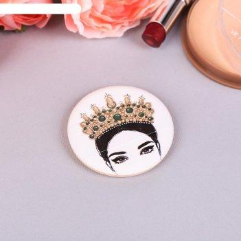 Спонж, пуховка для макияжа корона, с держателем, d=5,3*0,5см
