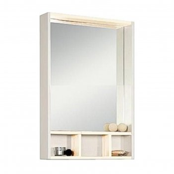 Шкаф-зеркало акватон йорк 60, цвет белый, выбеленное дерево 1a170102yoay0