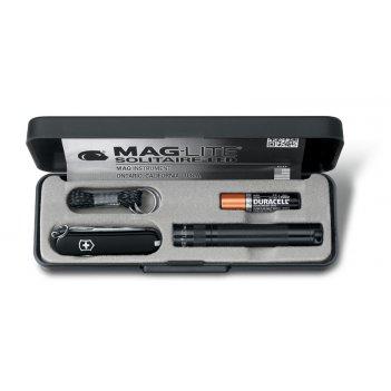Набор нож + фонарь victorinox 4.4014