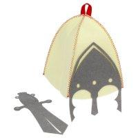 Набор банный: шапка + набедренный фартук рыцарь