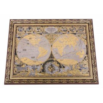 Панно карта известного мира жана баптиста нолина new (покрытие