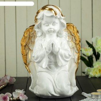 Статуэтка ангел большой молящийся, золотой