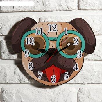 Часы настенные детские собачка, 24 см