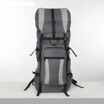 Рюкзак тур таймтур 2, 90л, отд на шнурке, н/карман, 2 бок сетки, серый/св.