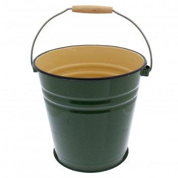 Ведро 12 л зелёный рябчик (внутри цвет палевый)
