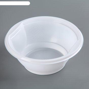 Тарелка суповая 600 мл, цвет белый