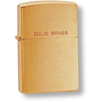204 зажигалка zippo brush brass zippo
