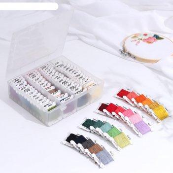 Набор ниток мулине «асссорти», 4 ± 0,3 м, 80 шт, цвет разноцветный