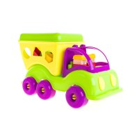 Машина-сортер силач зелёно-фиолетовая