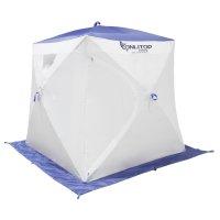 Палатка призма люкс 170, 2-х слойная, бело-синяя