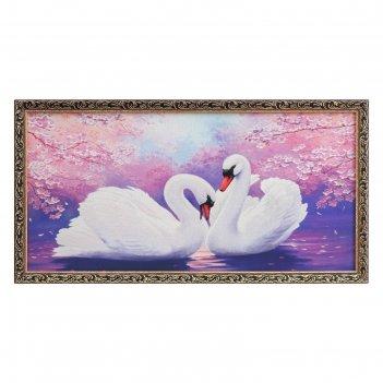 Гобеленовая картина лебеди