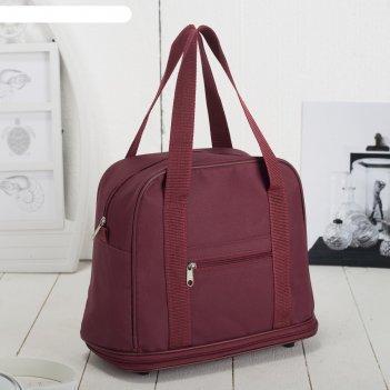 7886 п-600 сумка хозяйственная трансформер, 32*27/38*15, бордовый, 1 отд,