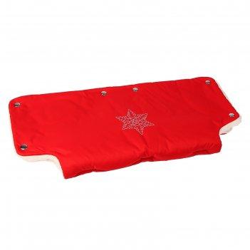 Муфта для рук на санки или коляску «снежинка», меховая, на кнопках, цвет к