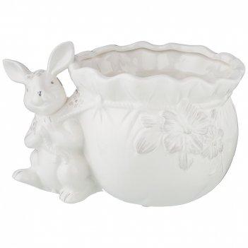 Кашпо кролик,   23х15,5х15 см. (кор=12шт.)