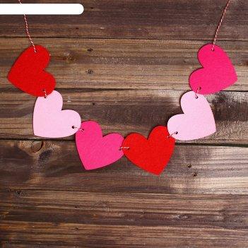 Набор для творчества - гирлянда своими руками сердечки пластиковая игла
