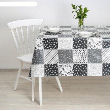 Клеёнка столовая на тканевой основе «меланж», 1,28x25 м, цвет серый