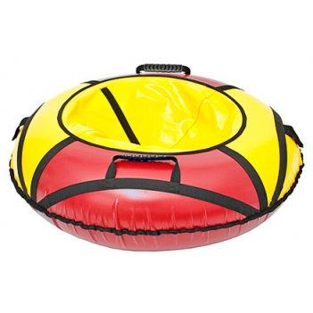Тюбинг: ватрушка для катания 110см красно-желтый