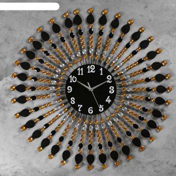 Часы настенные, серия: ажур, ронда  d=70 см, d=22 см, 1 аа, плавный ход