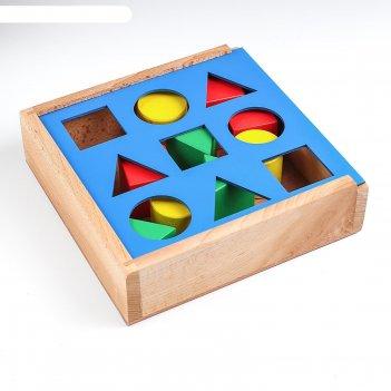 Ящик сегена с объемными фигурами (9 дет.)