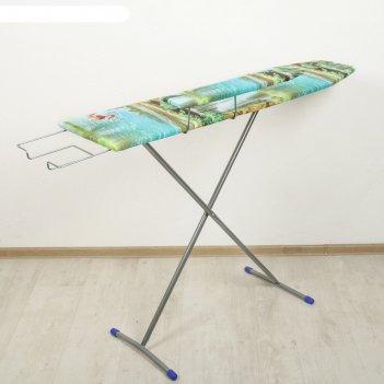 Доска гладильная лина 106,5х29 см, положения высоты 70, 80 см, выдвижная п