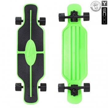 408-g скейтборд y-scoo longboard shark tir 31″ пластик 79х22 с сумко