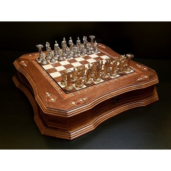Шахматы легион орех антик