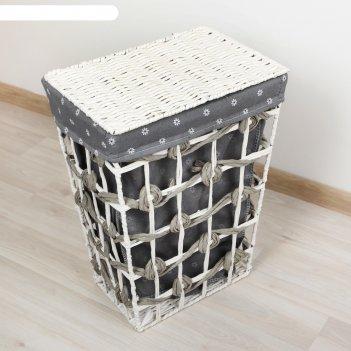 Корзина для белья плетеная прямоугольная 32х23х44 см хильда