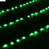 Сетка ш:1 м, в:0,7 м, нить темная, led-96-220v, контр. 8 р, зеленый