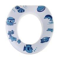 Сиденье для унитаза детское морские обитатели на белом