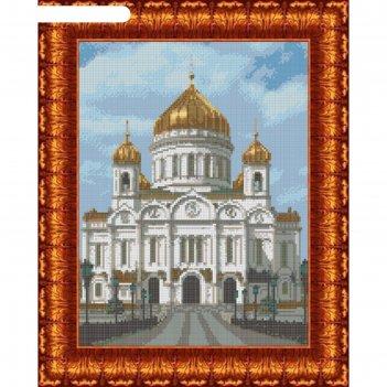 Схема для вышивания крестиком «храм христа спасителя», канва 23х30 см