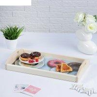 Поднос для завтрака доброго утра пончики 50х7х29,5см