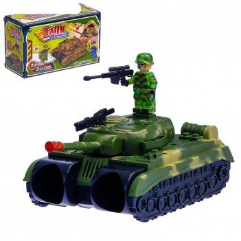 Бинокль танк, с ремешком и солдатиками