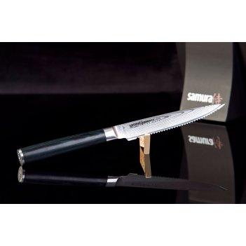 Нож поварской кухонный для томатов samura damascus sd0071 лезв 125 мм