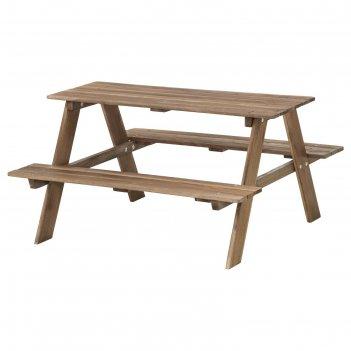 Детский стол для пикника ресо, серо-коричневая морилка