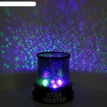 Ночник-проектор звёздное небо 4 led, 12 см, (dc/5v, usb или 3*аа не в комп