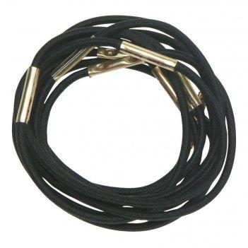 Резинки для волос черные, midi (10 шт) dewal re024