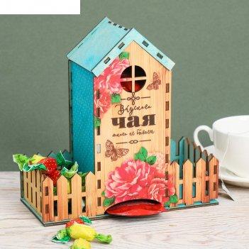 Чайный домик цветы и бабочки