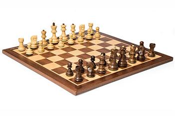 Шахматы российская классика, фигуры самшит и палисандр, король 7,6см