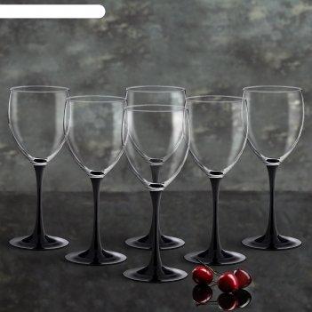 Набор фужеров для вина 350 мл домино, 6 шт
