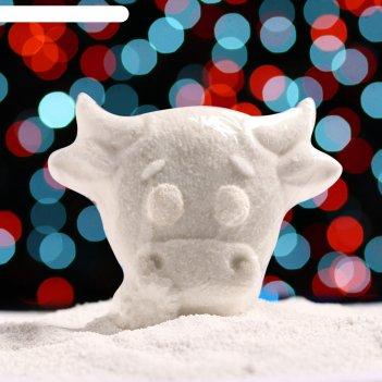 Бурлящая соль для ванны бычок с ромашкой миндаль