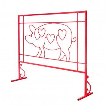 Ограждение декоративное свинка 124*30*102 см