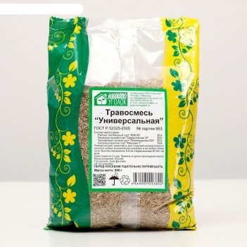 Газонная травосмесь  универсальная   0.8 кг (10шт/уп) зеленый уголок