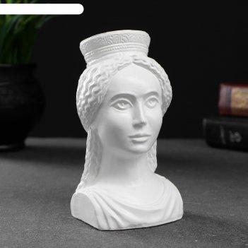 Фигура богиня тэхе (судьба) белая 12х10см