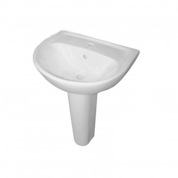 Умывальник sanita, эталон-55, с пьедесталом, белый