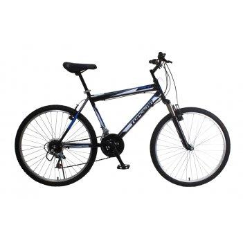 Горный велосипед 26, стальная рама, амортизационная вилка, 21ск, тормоза v